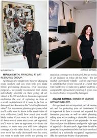 Art of the Appraisal article from June 2012 Laguna Beach magazine featuring Miriam Smith from Art Resource Group