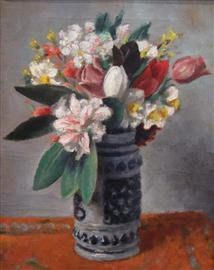 Flowers in Beer Mug image
