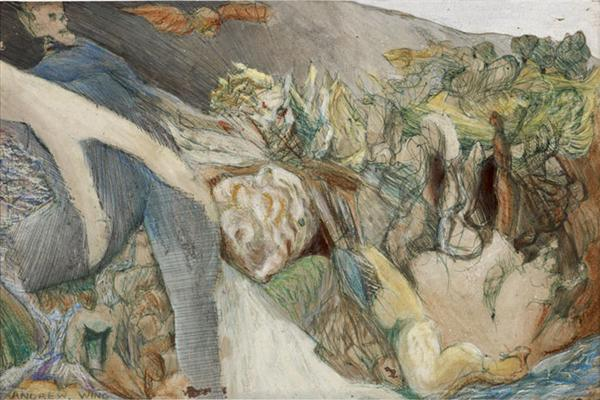 image of Death Leaving Landscape (Canyon Acre Series) by Andy Wing