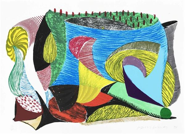Artwork: David Hockney | Above and Beyond (from Some More New Prints)