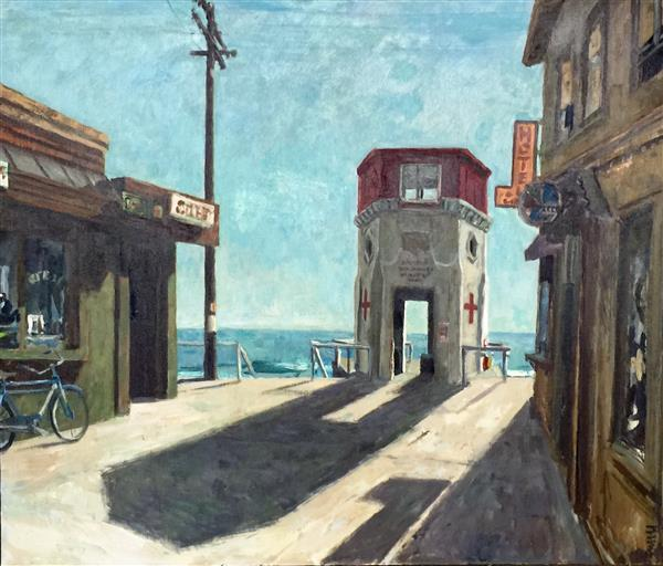 Artwork: Roger Kuntz | Untitled - Boardwalk, Laguna Beach