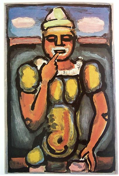 Artwork: Georges Rouault | Le Rencheri, One Up-Man-Ship